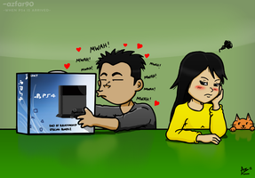 When PS4 is Arrived by azfar-90