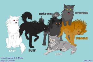 The Stark Wolves by Chilenita