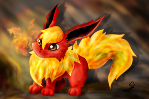 Dusty the Flareon - Fire by Gem-n-Ems