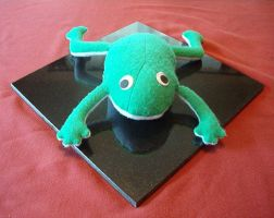 Fred the Frog - First Plushie by SwanofWar