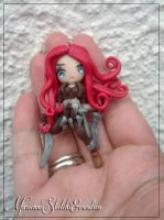 Katarina Commission polymerclay Pendant by DarkettinaMarienne