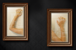 wooden frame on wall by imilj