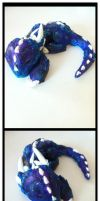 Sleeping baby dragon ( paper clay ) by ultimate-galaxy