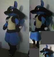 GIFT Crochet Lucario Plushie by JerisEnigma