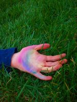 rainbow in the palm of my hand by pondie