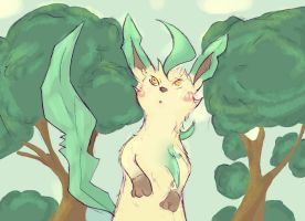 Confused Leafeon by silentlightness