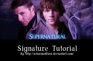 Supernatural signature tutorial by xcharmedfanx