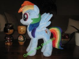Another Rainbow Dash Plush commission complete by GreenTeaCreations