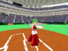 yuukarin challenges a pitcher by SoundSpectre