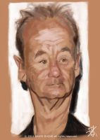 Bill Murray WIP by David-Duque