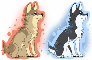 Glow Canines auction -Closed- by snowpups123