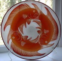Fish platter by Bendzunas-Glass