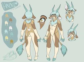 Hazel Reference Sheet (contest entry) by Terrawolfdog
