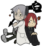 Soul Eater-Chibis : Stein and Spirit by JACKSPICERCHASE
