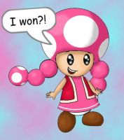 Toadette Wins by SuperheroGeek13
