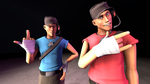 BLU Scout Hates the RED Team's Scout by ZeFlyingMuppet