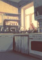 our kitchen. by DerMonkey