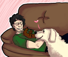 Puppy therapy by Kaldira