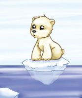 Baby Polar Bear by Kit-Kat-Choco