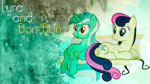 Lyra and Bon-Bon Wallpaper by BlueDragonHans