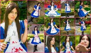 Alice Madness Returns Default Dress Collage by AmmieChan