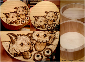 Woodburning / Pyrography - Poro Pile! by reaperfox