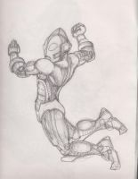 Ultrman Sketch redesign concept by manguy12345