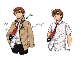 APH - Romano - Elementary Male Uniform for Mel by MmmAnchovies