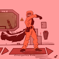 Biohazard suit mess up by Gaia1234