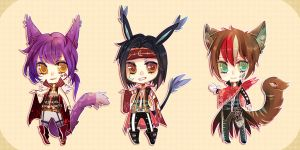 Kemonomimi Performers - Cash auction [Closed] by RenciAdopts
