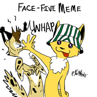 Face-Five Meme by lordvipes