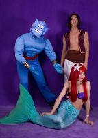 Little Mermaid with Aladdin by JasDisney