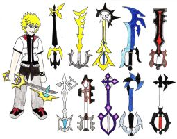 358 Days Keyblades - Roxas by NekoChanTheKitty