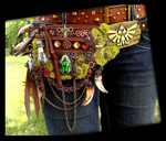 Hand Made Fantasy Zelda Belt Pack by Wood-Splitter-Lee