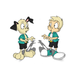 Peter Puppy meets Human Peter by earthwormjimfan102