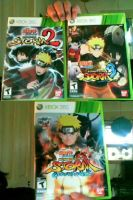 NS Naruto Shippuden Games of XBOX 360 by Bluedragoncartoon