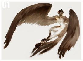 01 Harpy by wood-illustration
