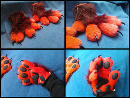 Demon Wolf Paws by CuriousCreatures