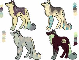 wolf adoptables 4/4 open by unplugged12sistercat