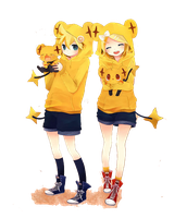 Render kagamine Rin and Len by XxXcutiexbunnieXxX1