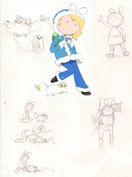 Fionna Sketch Dump by Angeli-The-Icefairy