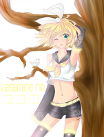 Kagamine Rin by Trinity-In-Rainbows