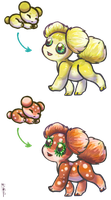 Lemon And Strawberry Asteroid Pups for MacMacaroni by Jesseth