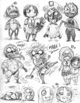 EMPOWERED assorted cast, 'chibi de Pins' style by AdamWarren