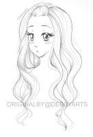 Hair Colouring Drawing - Free Download!!! by DebbyArts