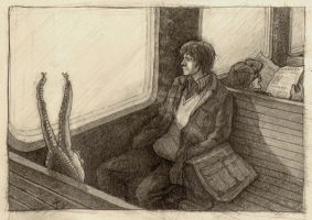 way home in an electric train by godlevski