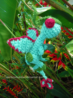 Art Trade: Flygon Amigurumi by Rainbowbubbles