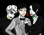 Addams Family/BTT Crossover by Lupoartistico