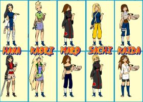 Naruto Girl OCs by chuchie7