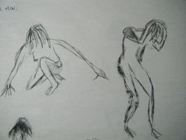 Gesture Drawings III and IV by starsonsaturn